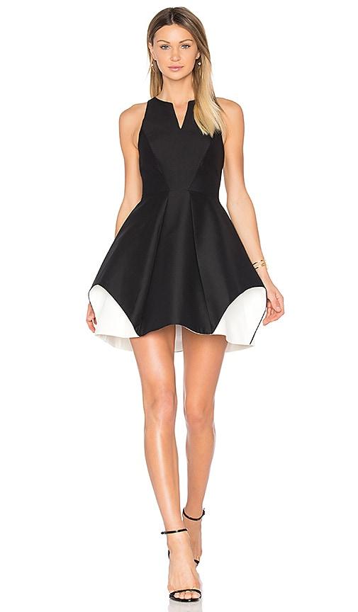 Halston Heritage Notch Neck Dress in Black