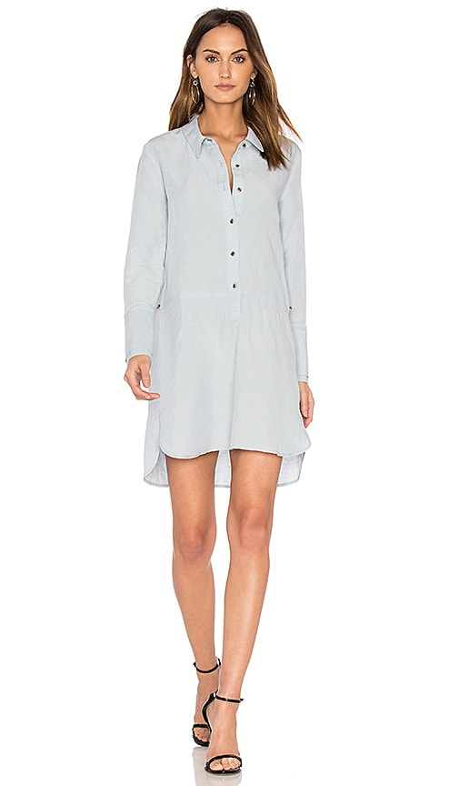 Halston Heritage Detachable Wrap Skirt Dress in Baby Blue
