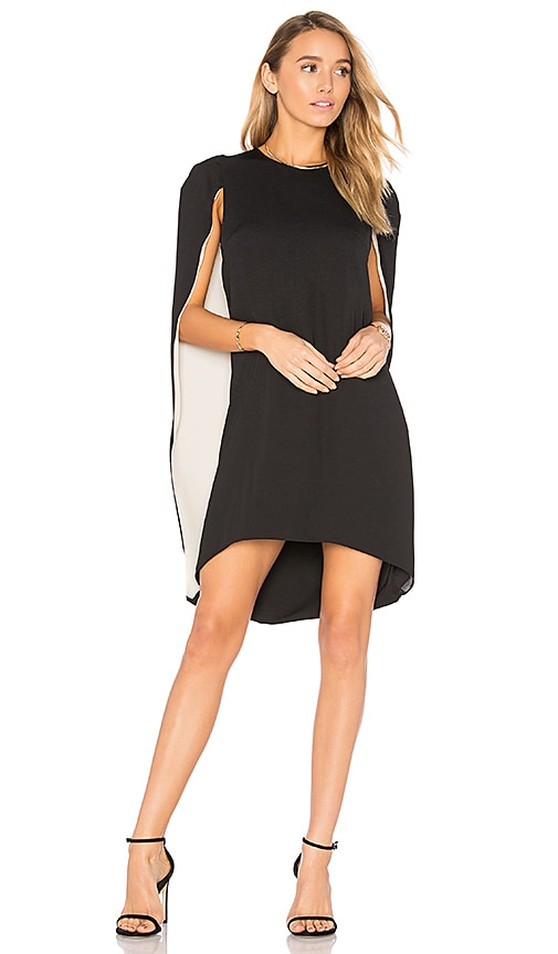 Halston Heritage Cape Dress in Black