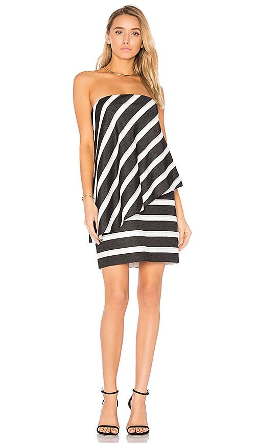 edec9a3df9e Strapless Tiered Drape Stripe Dress. Strapless Tiered Drape Stripe Dress. Halston  Heritage