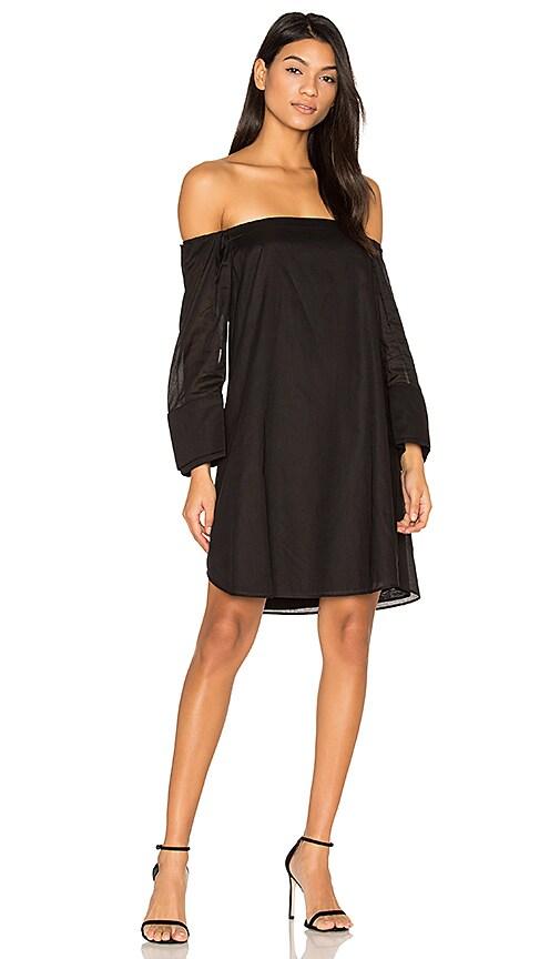 Halston Heritage Cold Shoulder Dress in Black