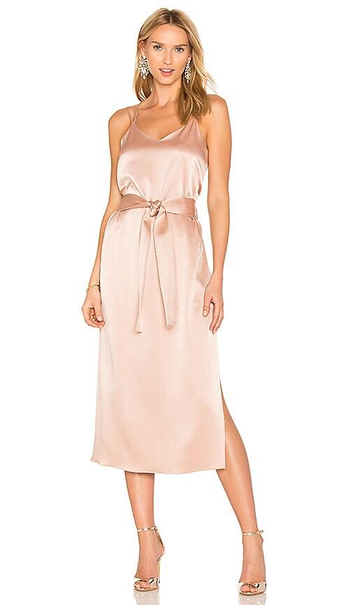 03c6bf9fe8628 Halston Heritage Double Strap Slip Dress in Almond | REVOLVE