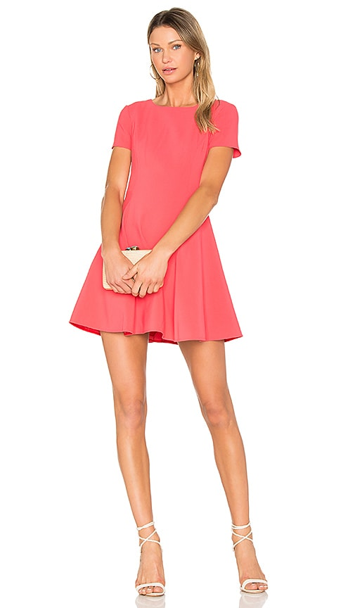 Halston Heritage Fit & Flare Dress in Fuchsia