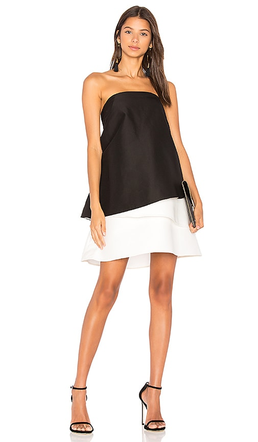 Halston Heritage Tiered Dress in Black