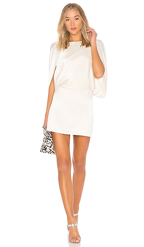 Halston Heritage Cape Sleeve Dress in Ivory