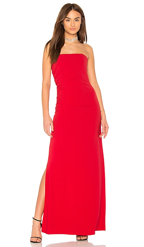 Strapless Ruched Side Dress Halston Heritage