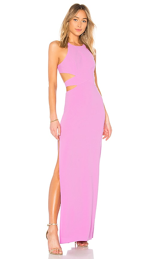 fecc13f5a13 High Neck Tie Back Gown. High Neck Tie Back Gown. Halston Heritage