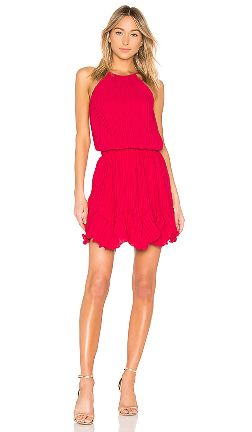 Halston Heritage Round Neck Dress in Pink