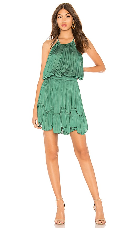 Halston Heritage Ruched Dress in Green