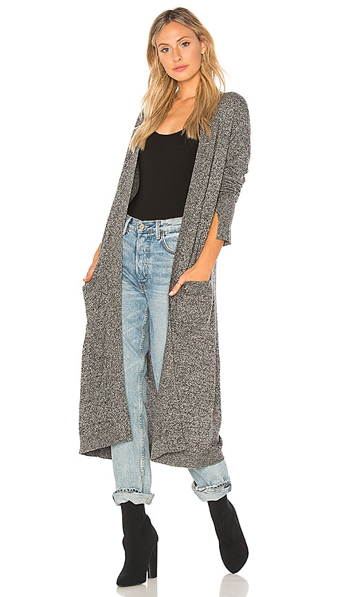 Halston Heritage Duster Cardigan in Gray