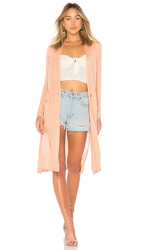 Halston Heritage Duster Cardigan in Pink