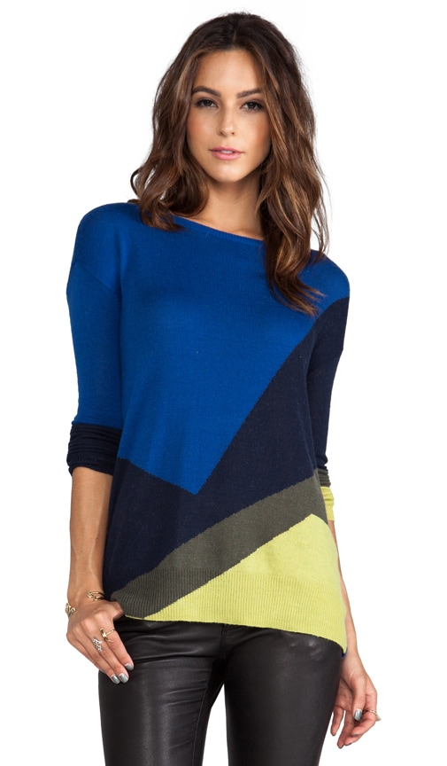 Long Sleeve Intarsia Sweater