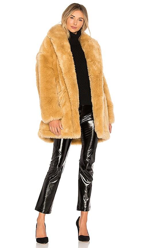 Double Breast Faux Fur Coat