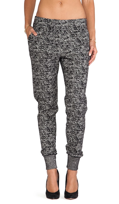 Tapered Leg Tweed Knit Sweatpant