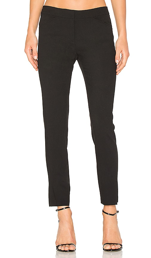 Halston Heritage Straight Ankle Pant in Black