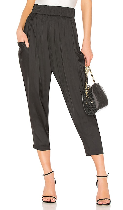 Halston Heritage Flowy Ruched Pant in Black