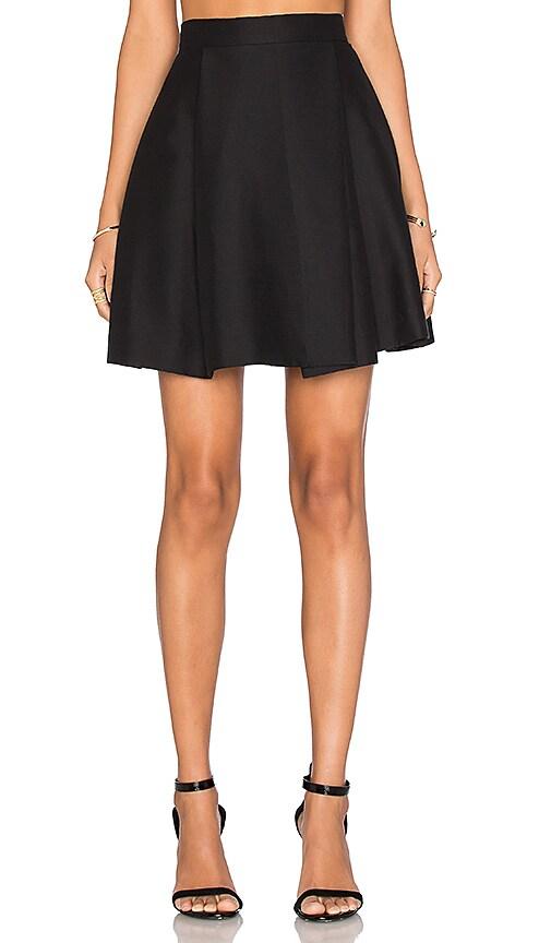 Halston Heritage High Waist Structure Skirt in Black
