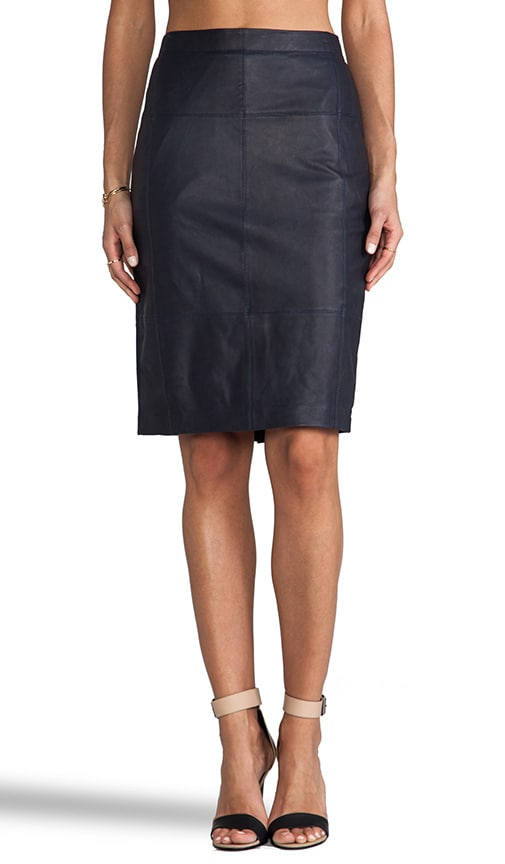 Leather Combo Pencil Skirt