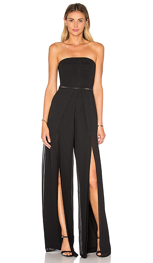 Strapless Overlay Jumpsuit