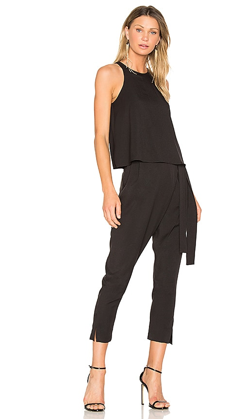 Black Belted Jumpsuit | REVOLVE