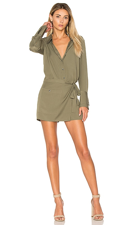 Romper With Faux Wrap
