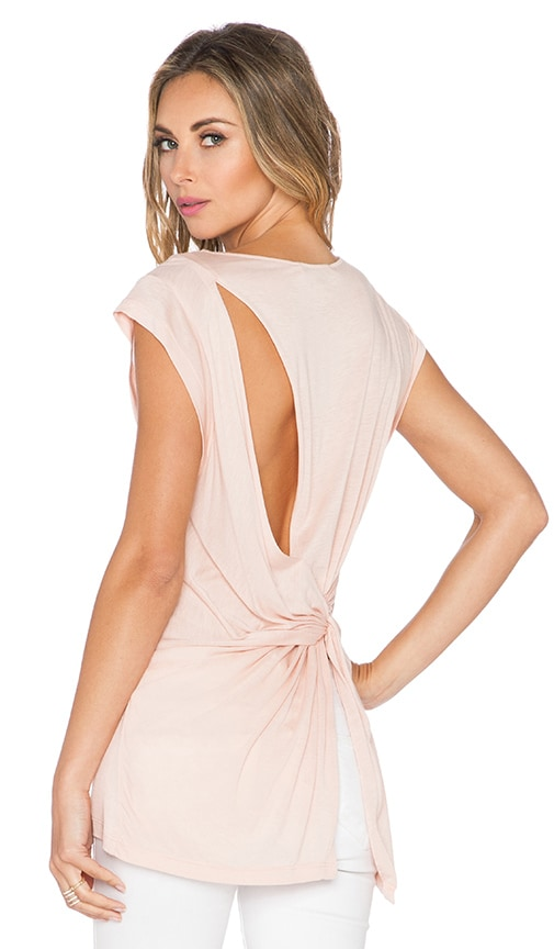 Halston Heritage Back Drape Top in Glow