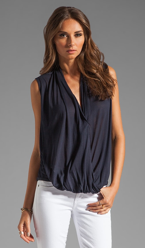 SL V-neck Wrap Front Jersey Top