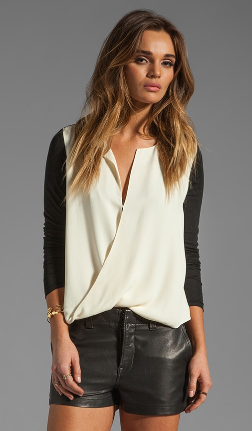 Long Sleeve Slit Front Top