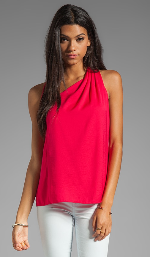 Asymmetrical Draped Racerback Top