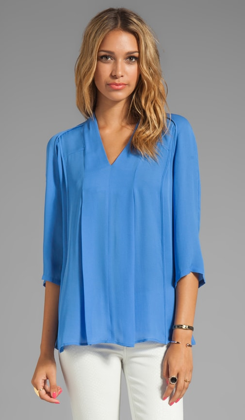 Washed Silk Double Georgette Top