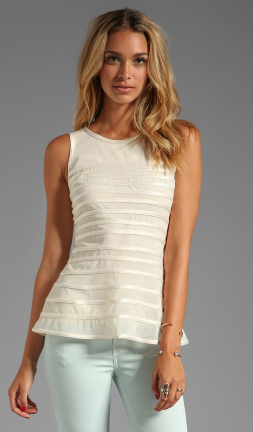 SL Tank WIth Charmeuse Stripes