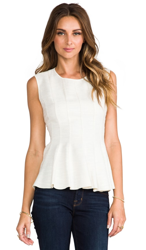 Rounded Neck Peplum Top
