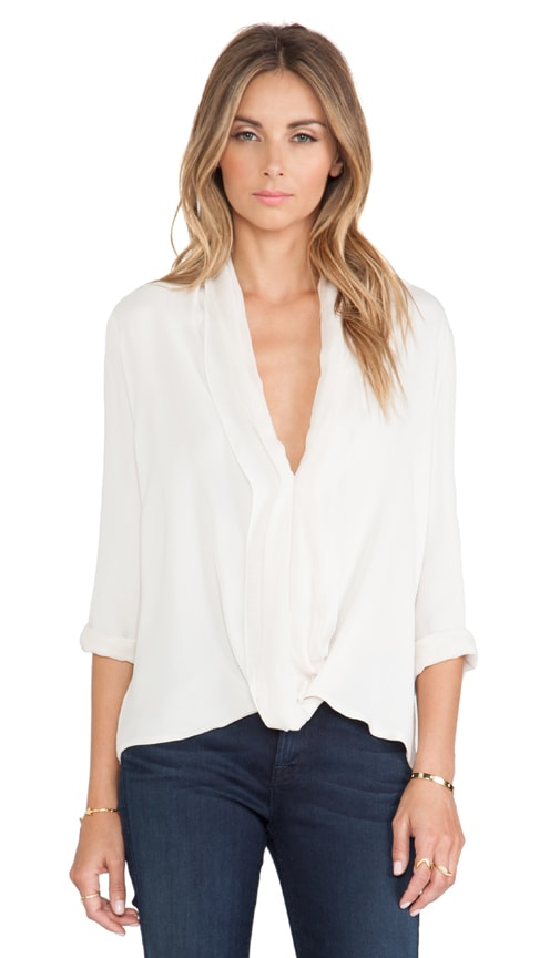 V Neck Drape Top