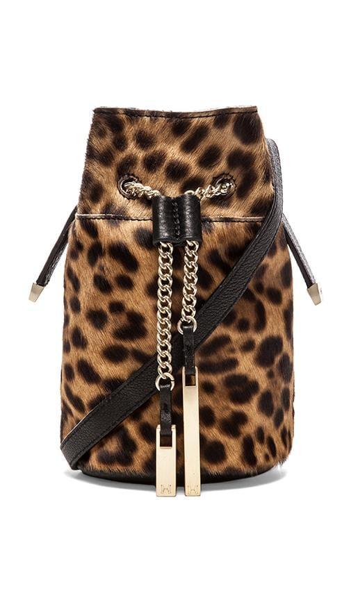 Animal Print Mini Bucket Bag