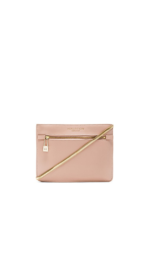 Halston Heritage Candice Triple Gusset Crossbody Bag in Quartz Pink