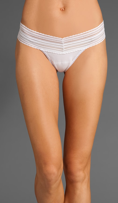 Low Rise Cotton Thong