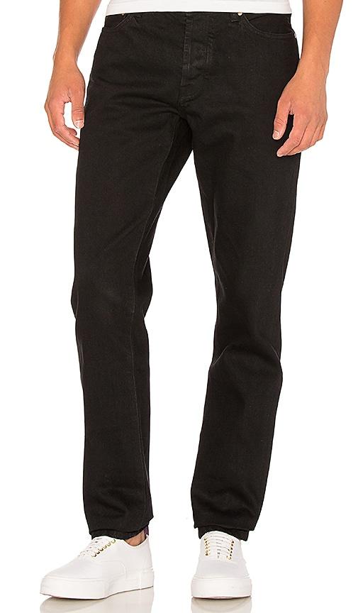 Han Kjobenhavn Tapered Jean in Black Black