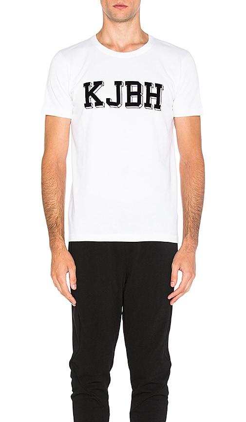 Han Kjobenhavn Block Logo Tee in White