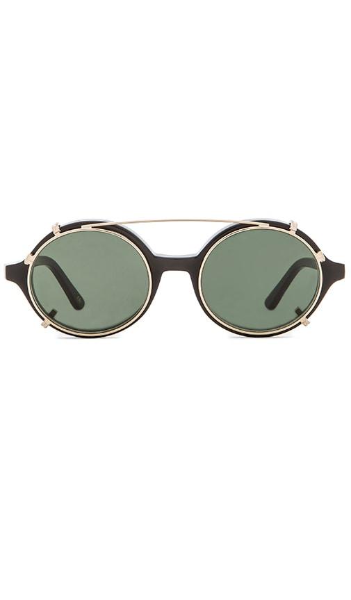 HAN Kj?benhavn Black Doc Clip-On Sunglasses WvDDF