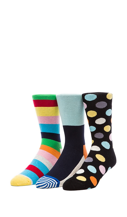 in Striped Toe & Big Dot & Stripe