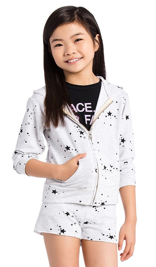Star Zip Up Hoody Sweatshirt