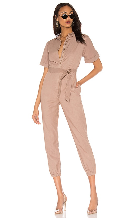 Short Sleeve Side Zip Detail Jumpsuit