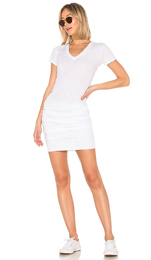 Shirred Tee Dress