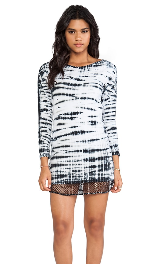 Tiger Tie Dye Contrast Mesh Dress