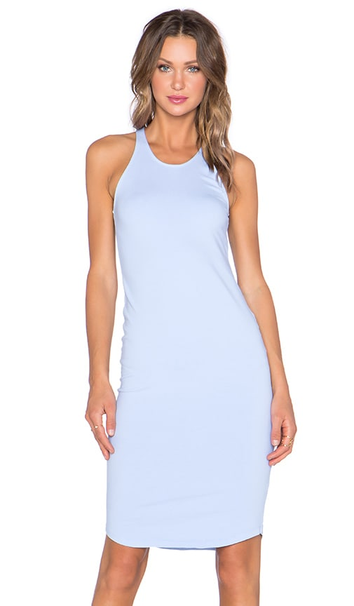 MONROW Sporty Tank Dress in Surf