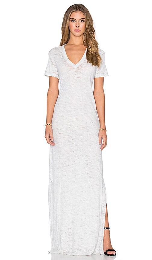 MONROW V Neck Slit Dress in Ash