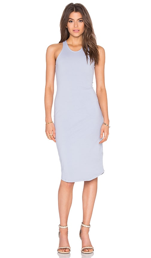 MONROW Sporty Tank Dress in Dusty Blue
