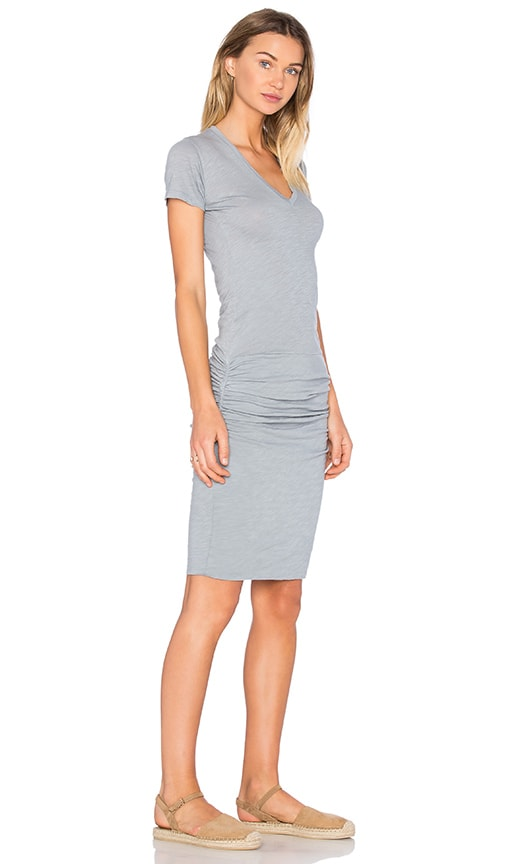 MONROW V Neck Dress in Slate