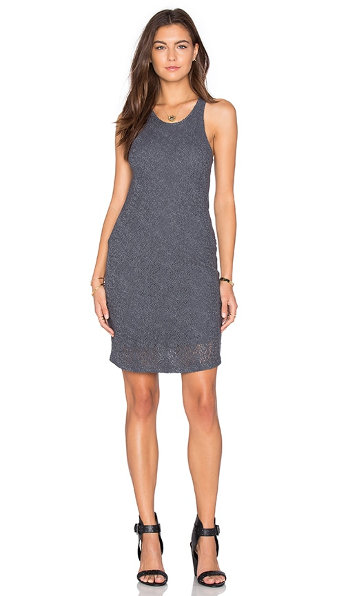 MONROW Stretch Tank Dress in Charcoal