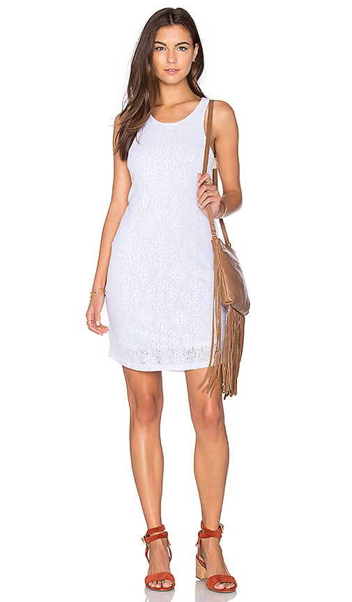 MONROW Stretch Tank Dress in White